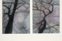 """Sidewalk Shadow Series II<br />Watercolor & pastel on paper, 18""""X24"""""""