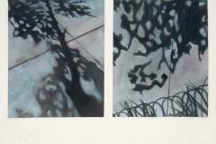 Sidewalk Shadow Series III<br />Watercolor & pastel on paper