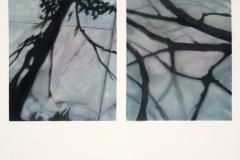 """Sidewalk Shadow Series IV<br />Watercolor & opastel on paper, 18""""X24"""""""