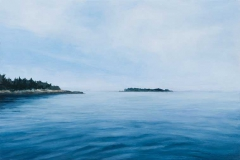 """On the Water<br />Oil on board, 12""""X8"""""""