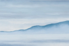 """From Little Cranberry<br />Oil on board, 36""""X14"""""""