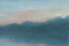 Pastel Sky I<br /> Oil on board, 11 1/2