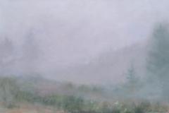 Field In Fog I<br /> Oil on board, 15