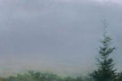 Field In Fog III <br /> Oil on board, 32