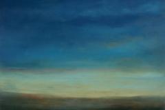 Big sky I<br /> Oil on paper, 20 1/2