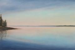 "Summer Morning II<br />Oil on board, 15 1/2x23 1/2"""