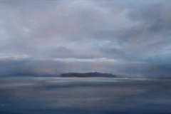 """Gathering Storm I<br /> Oil on board, 7x18"""""""
