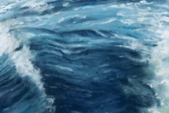In the Wake IV<br /> Oil on board, 13