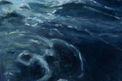 In the Wake I<br /> Oil on board, 13