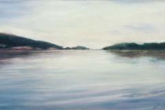 """Autumn Cove<br>Oil on board, 6 3/4""""X12"""", 2011"""