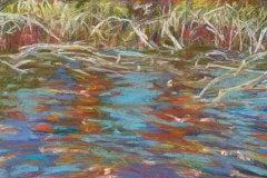 """Reflections I<br />Pastel on paper, 17 X 8"""""""