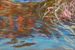 """Reflections II<br />Pastel on paper, 17 X 8"""""""