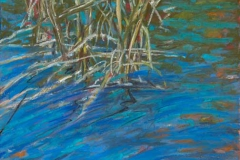 """Water's Edge IV<br />Pastel on paper, 14"""" square"""
