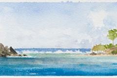 "Jost Van Dyke<br />On paper, 12"" X 4"""