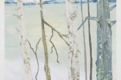 """Through The Trees I<br />On paper, 5 1/2"""" X 7 1/2"""""""