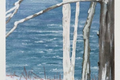 """Through The Trees II<br />On paper, 5 1/2"""" X 7 1/2"""""""