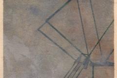 "Crane Top<br />On paper, 12""X16"""