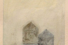 """Water Tower II<br />On paper, 12""""X16"""""""