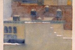 """Wintery Afternoon<br />On paper, 18""""X9"""""""
